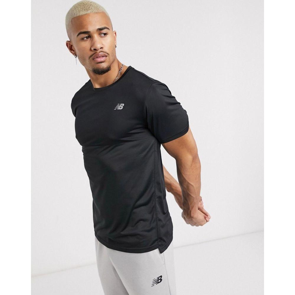 ニューバランス New Balance メンズ ランニング・ウォーキング Tシャツ トップス【Running accelerate logo t-shirt in black】Black