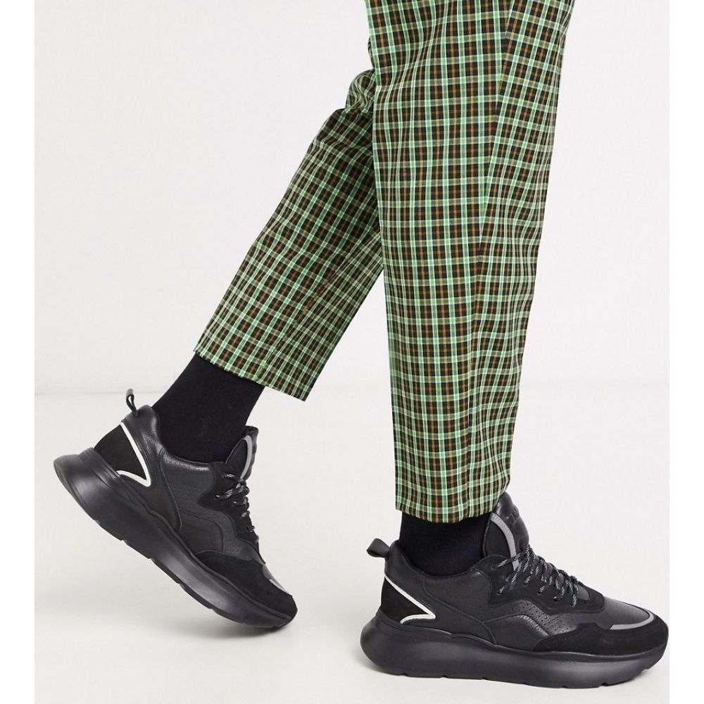 ブロンクス Bronx メンズ スニーカー チャンキーヒール シューズ・靴【grayson chunky trainers in black leather】Black