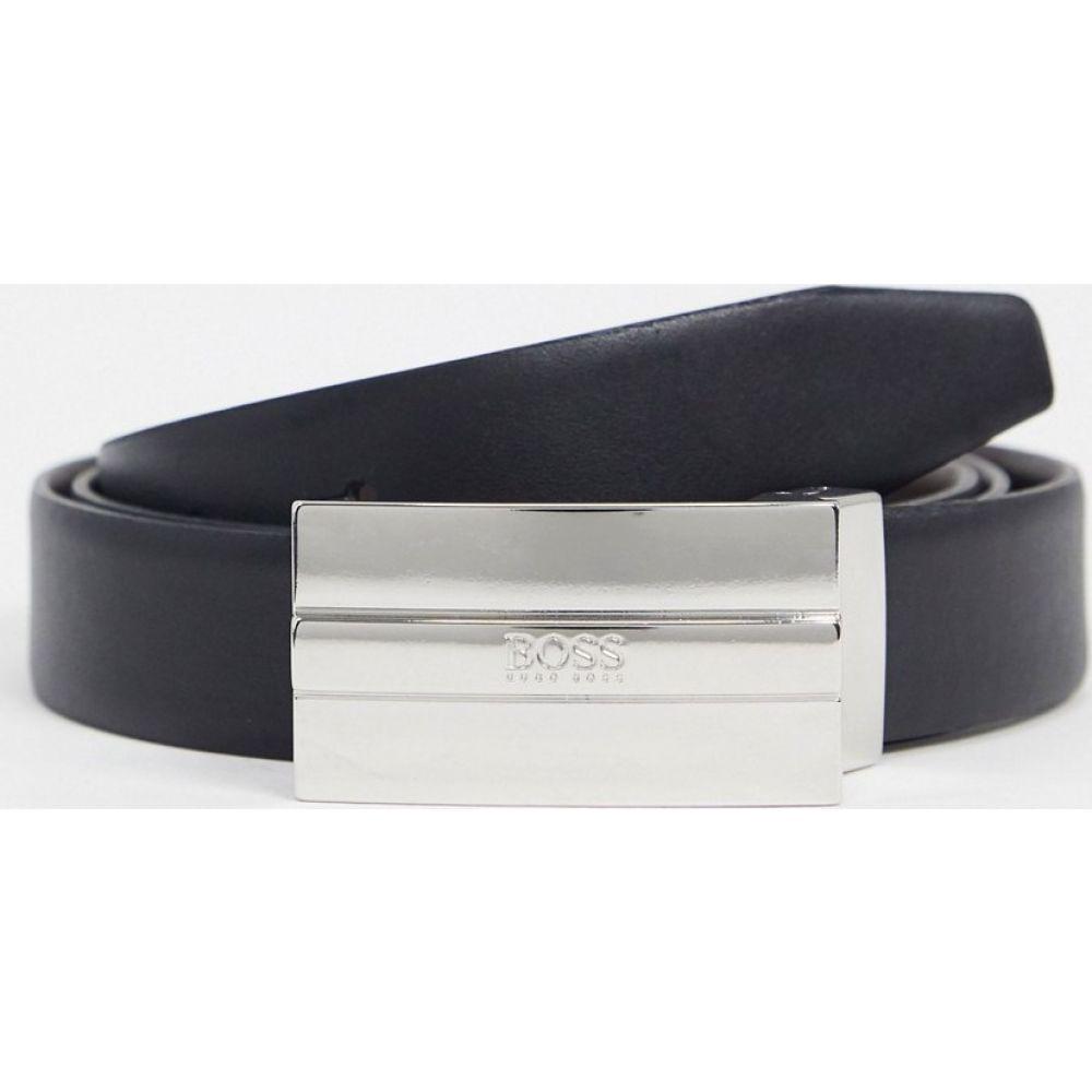ヒューゴ ボス BOSS メンズ ベルト 【Business Eflyoso-S leather belt】Black