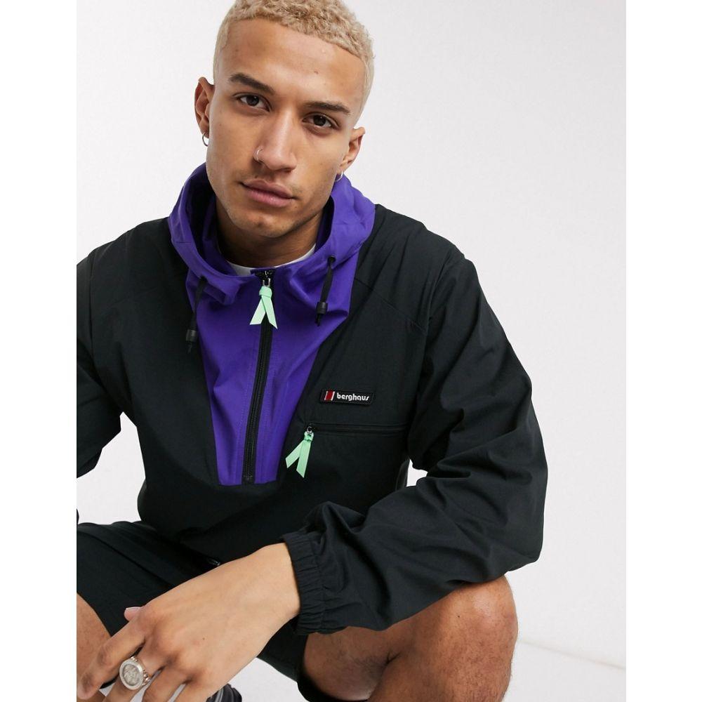 バーグハウス Berghaus メンズ ジャケット ウィンドブレーカー アウター【Wind Shirt 90 jacket in black】Jet black/deep blue