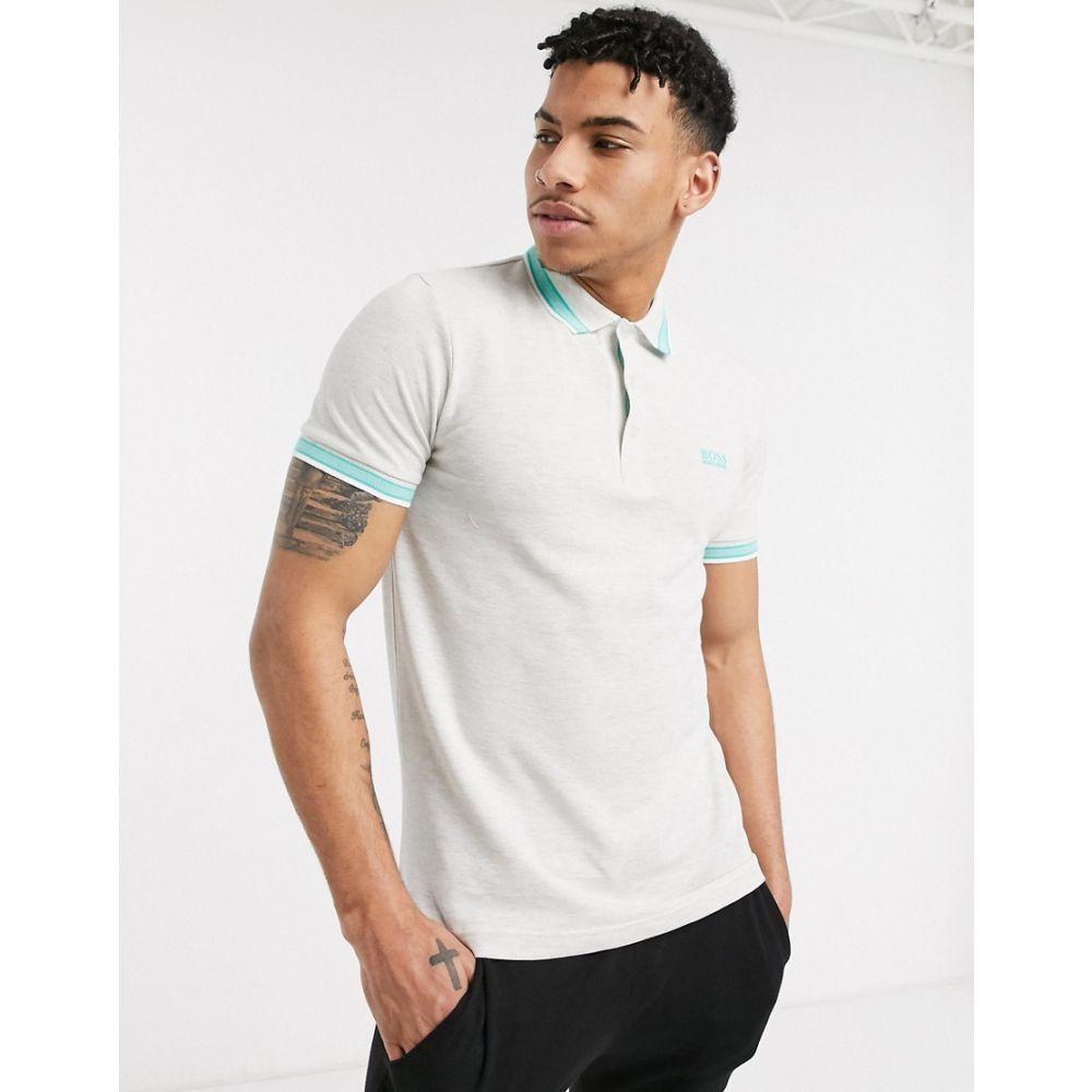 ヒューゴ ボス BOSS メンズ ポロシャツ トップス【Athleisure Paddy tipped polo shirt】Grey