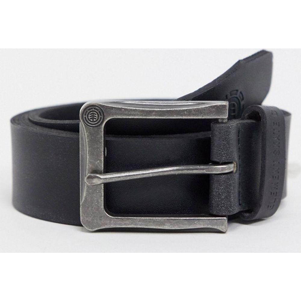 エレメント Element メンズ ベルト 【Poloma belt in black】black