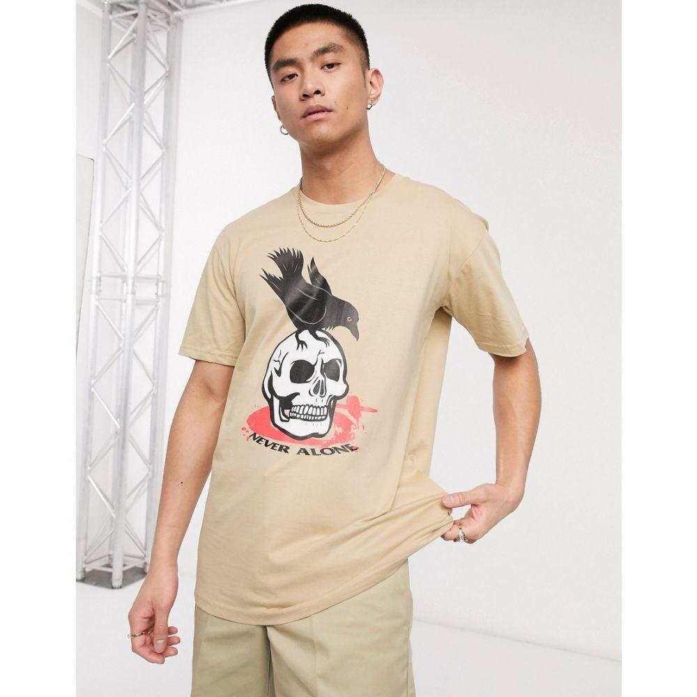 ブラッドブラザー Blood Brother メンズ Tシャツ トップス【printed t-shirt in stone】Stone