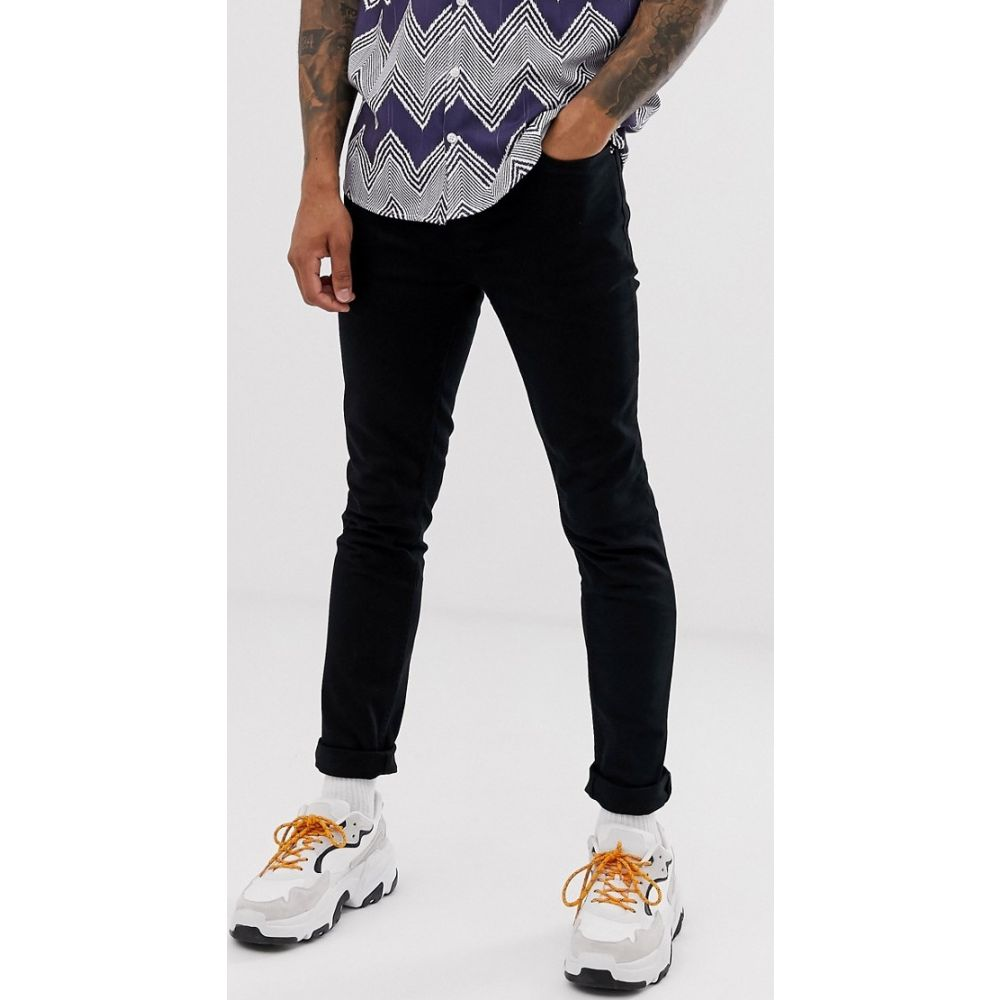 トップマン Topman メンズ ジーンズ・デニム ボトムス・パンツ【skinny jeans in black】Black