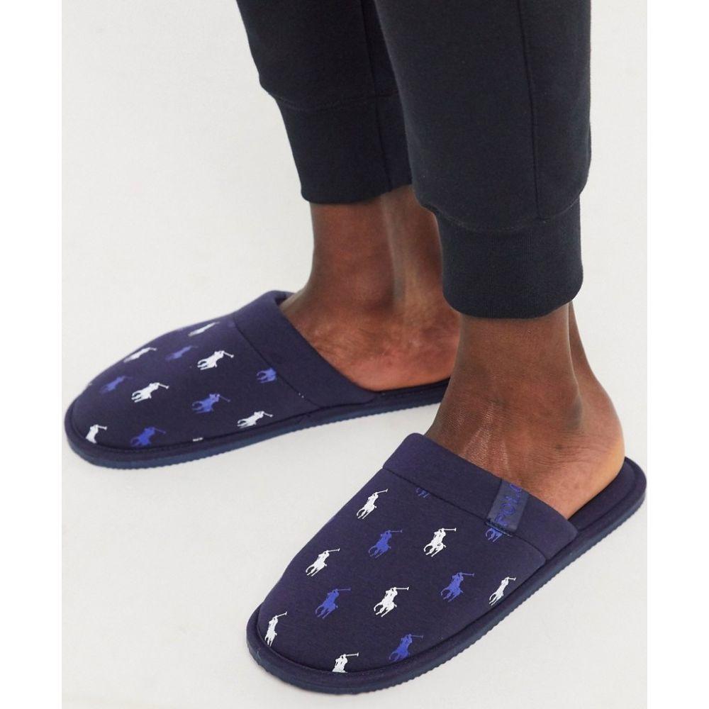 ラルフ ローレン Polo Ralph Lauren メンズ スリッパ シューズ・靴【summit scuff repeat logo slipper in navy】Navy