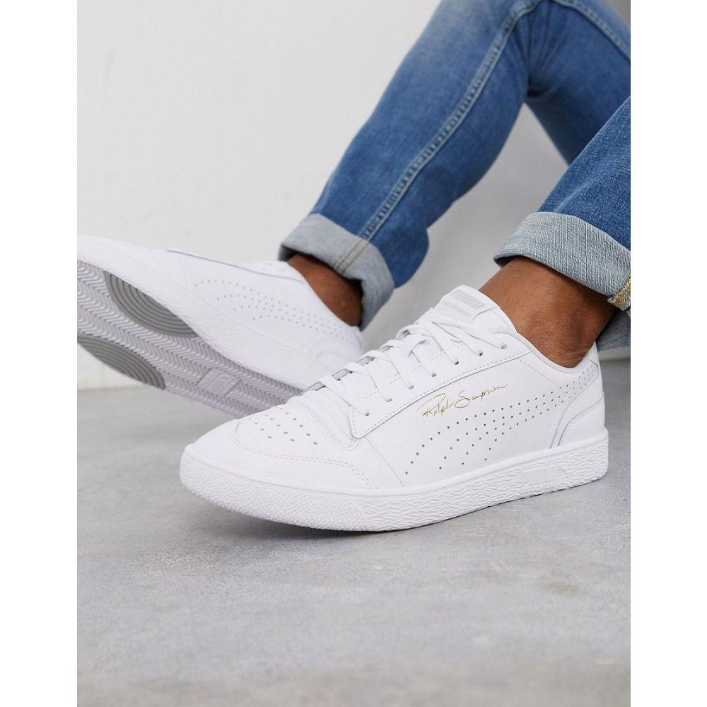 プーマ Puma メンズ スニーカー シューズ・靴【Ralph Sampson Perforated trainers in triple white】White