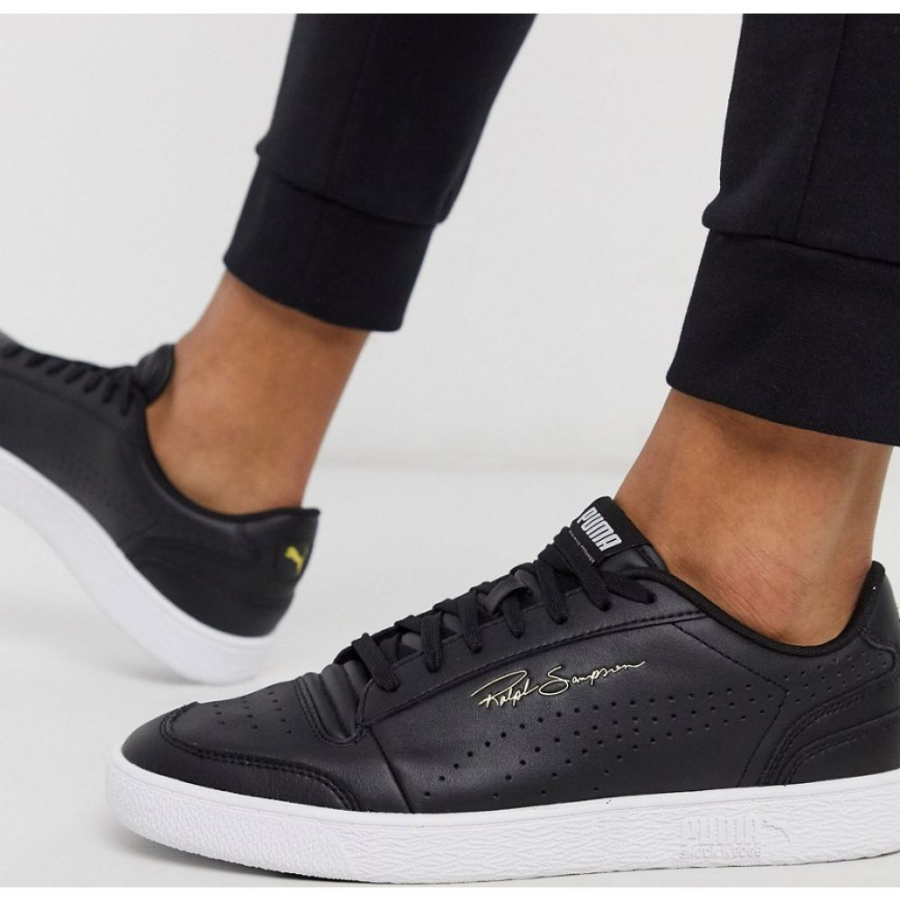 プーマ Puma メンズ スニーカー シューズ・靴【Ralph Sampson Perforated trainers in black】Black