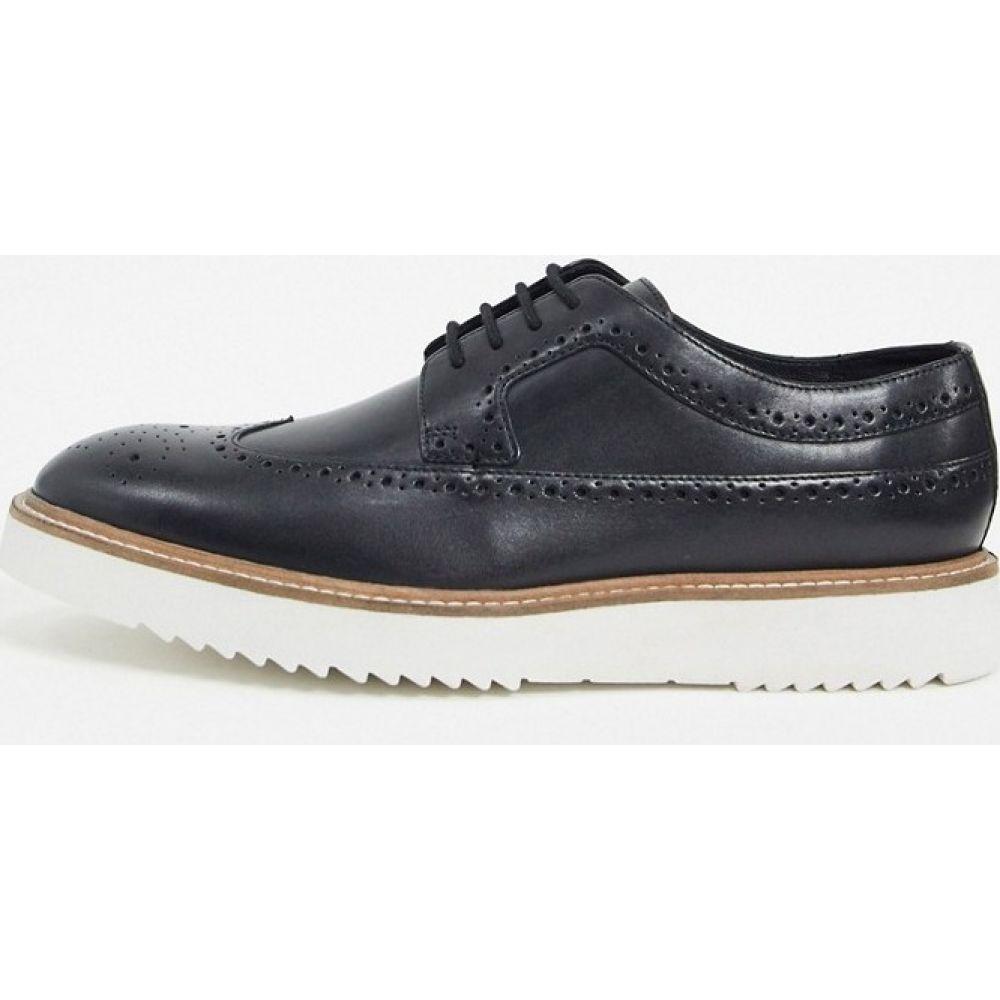 クラークス Clarks メンズ 革靴・ビジネスシューズ メダリオン シューズ・靴【ernest brogues in black nubuck】Black