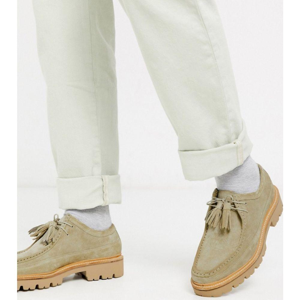 グレンソン Grenson メンズ シューズ・靴 【bennett desert shoes in beige suede】Beige