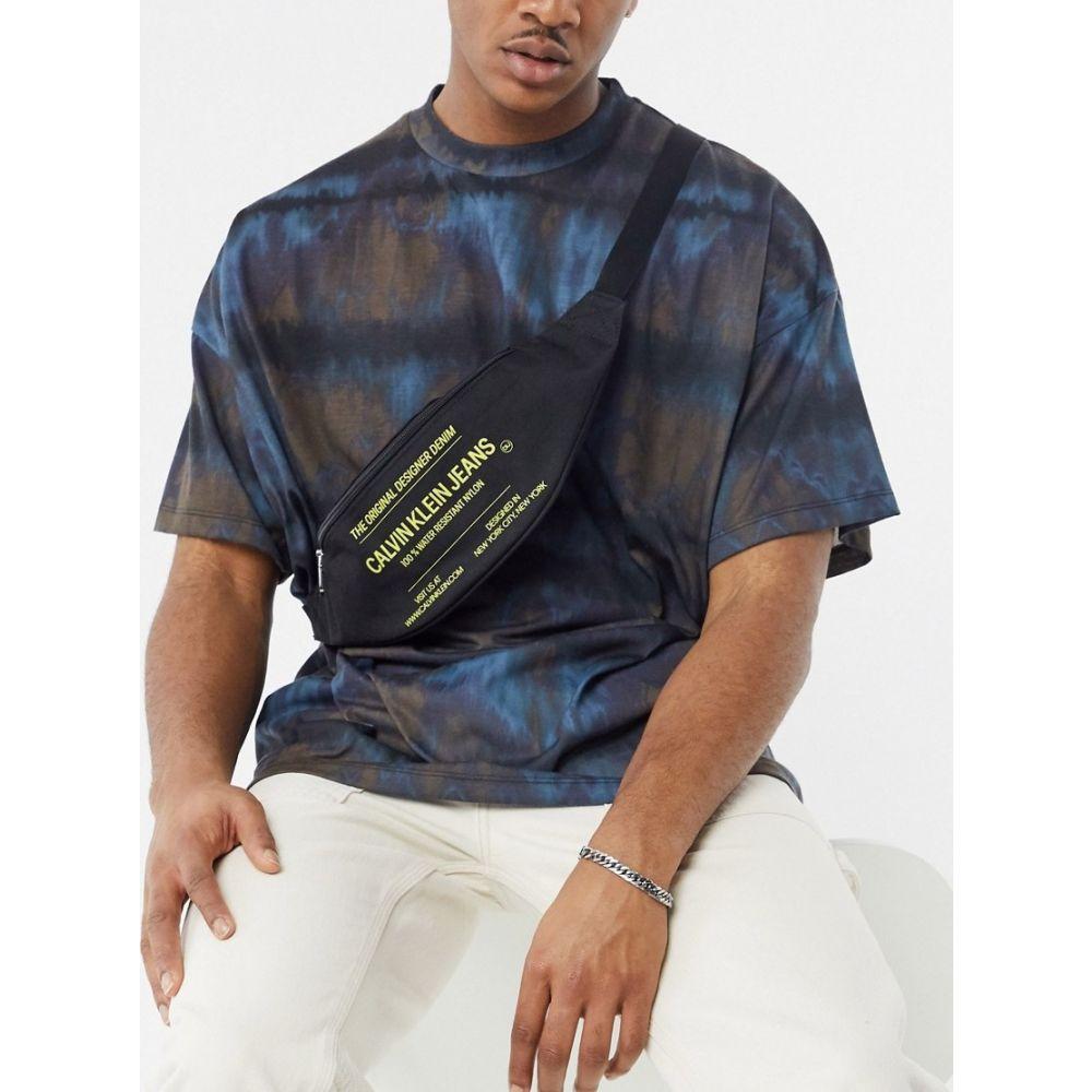 カルバンクライン Calvin Klein Jeans メンズ ボディバッグ・ウエストポーチ バッグ【Sports Essentials text bum bag in black】Black