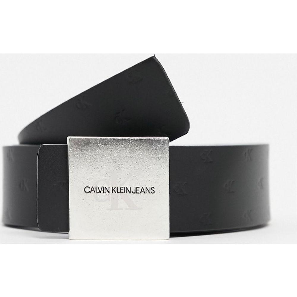 カルバンクライン Calvin Klein Jeans メンズ ベルト 【logo plaque belt in black】Black