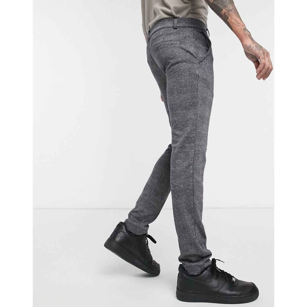 リバーアイランド River Island メンズ ボトムス・パンツ 【smart trousers in grey check】Grey