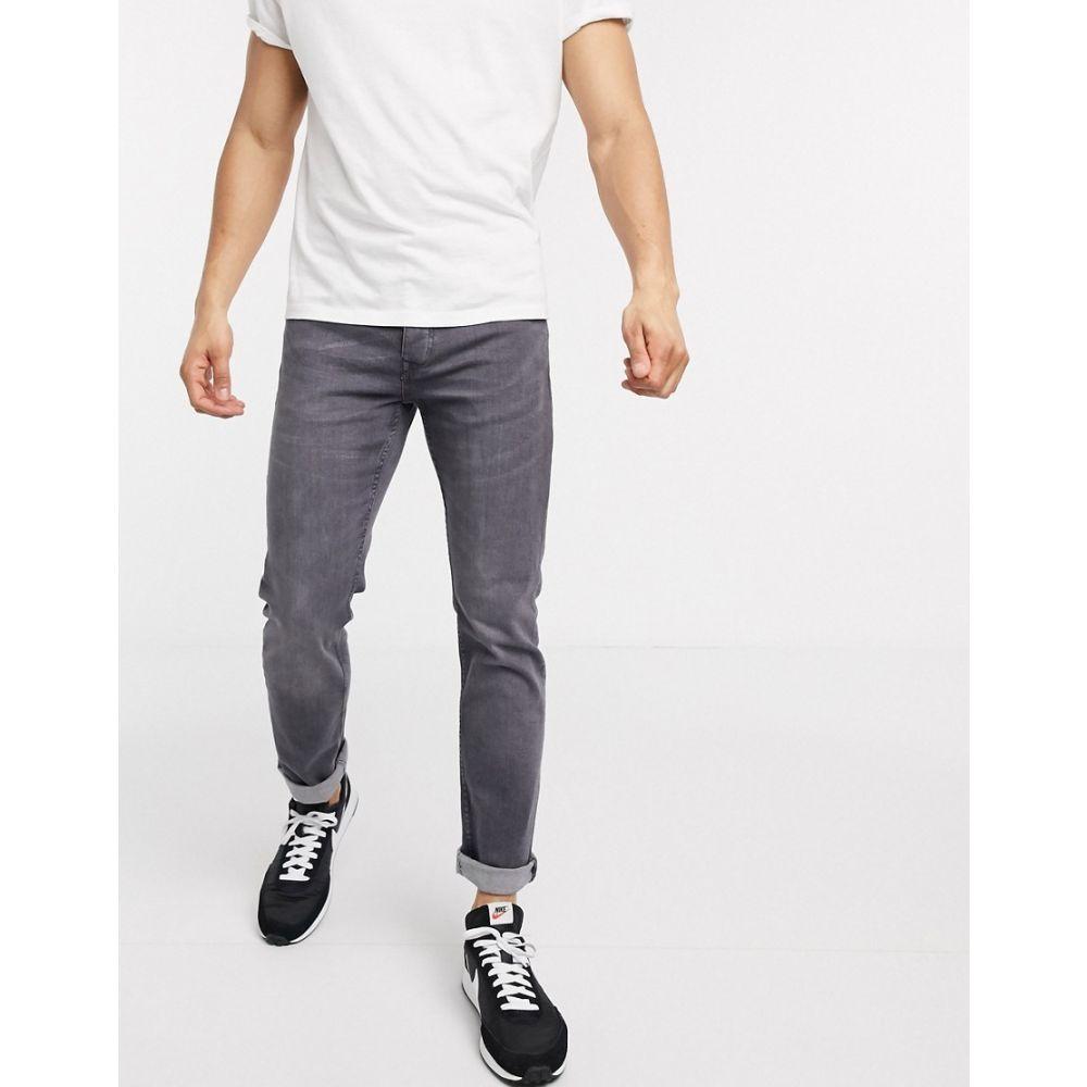 リバーアイランド River Island メンズ ジーンズ・デニム ボトムス・パンツ【slim jeans in grey】Grey