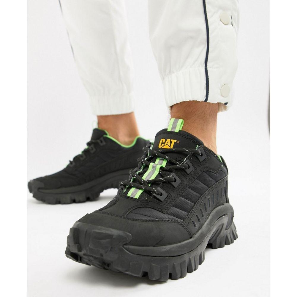 キャットフットウェア Cat Footwear メンズ スニーカー チャンキーヒール シューズ・靴【Caterpillar intruder chunky sole trainers in black】Black