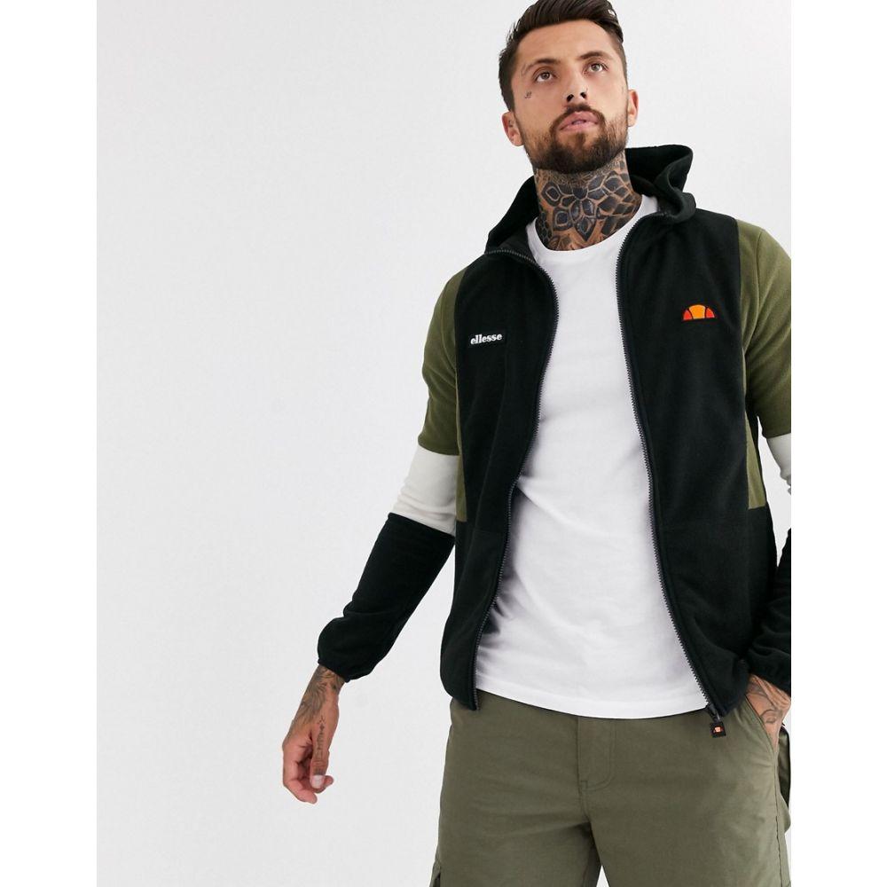 エレッセ ellesse メンズ フリース トップス【Sotto fleece jacket in black】Black