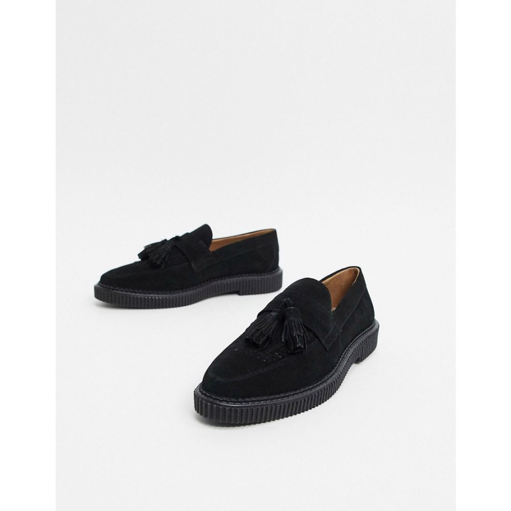 ハウスオブハウンズ House of Hounds メンズ ローファー シューズ・靴【kain creeper loafers in black suede】Black