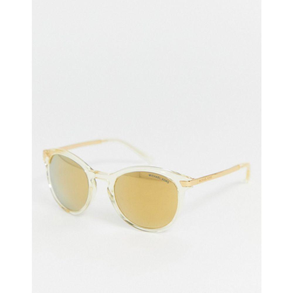 マイケル コース MICHAEL Michael Kors レディース メガネ・サングラス ラウンド【Michael Kors round sunglasses】Clear