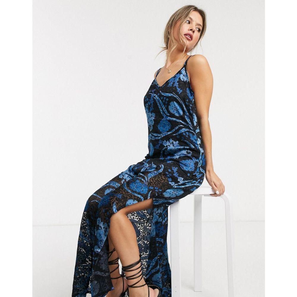 ラガ Raga レディース ワンピース ノースリーブ ワンピース・ドレス【Ocean Song floral print sleeveless maxi dress】Black