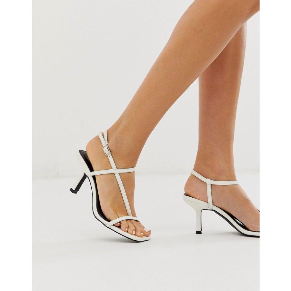 レイド Raid レディース サンダル・ミュール スクエアトゥ シューズ・靴【RAID Aadhya off white square toe sandals】Off white pu