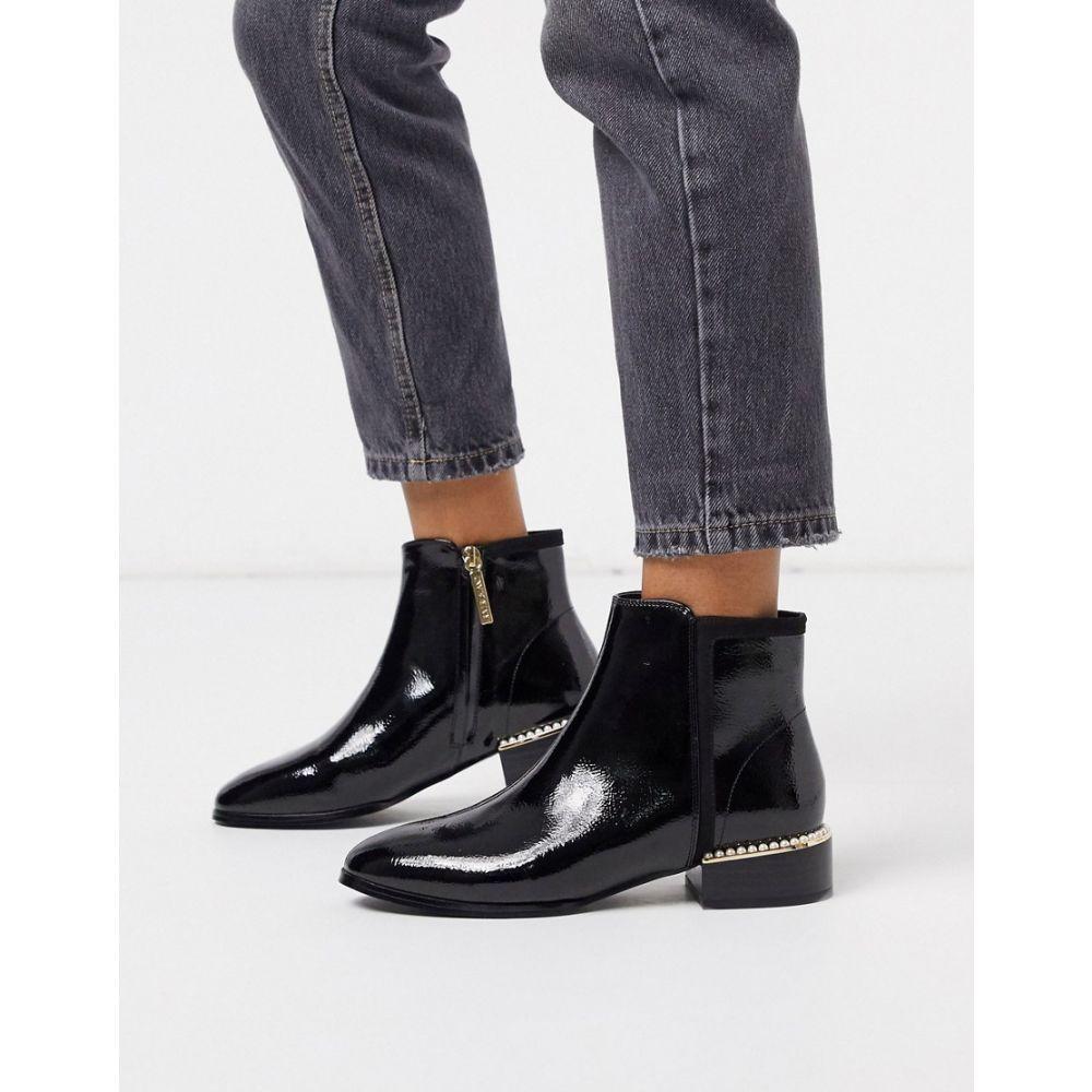 リバーアイランド River Island レディース ブーツ ショートブーツ シューズ・靴【patent ankle boot in black】Black