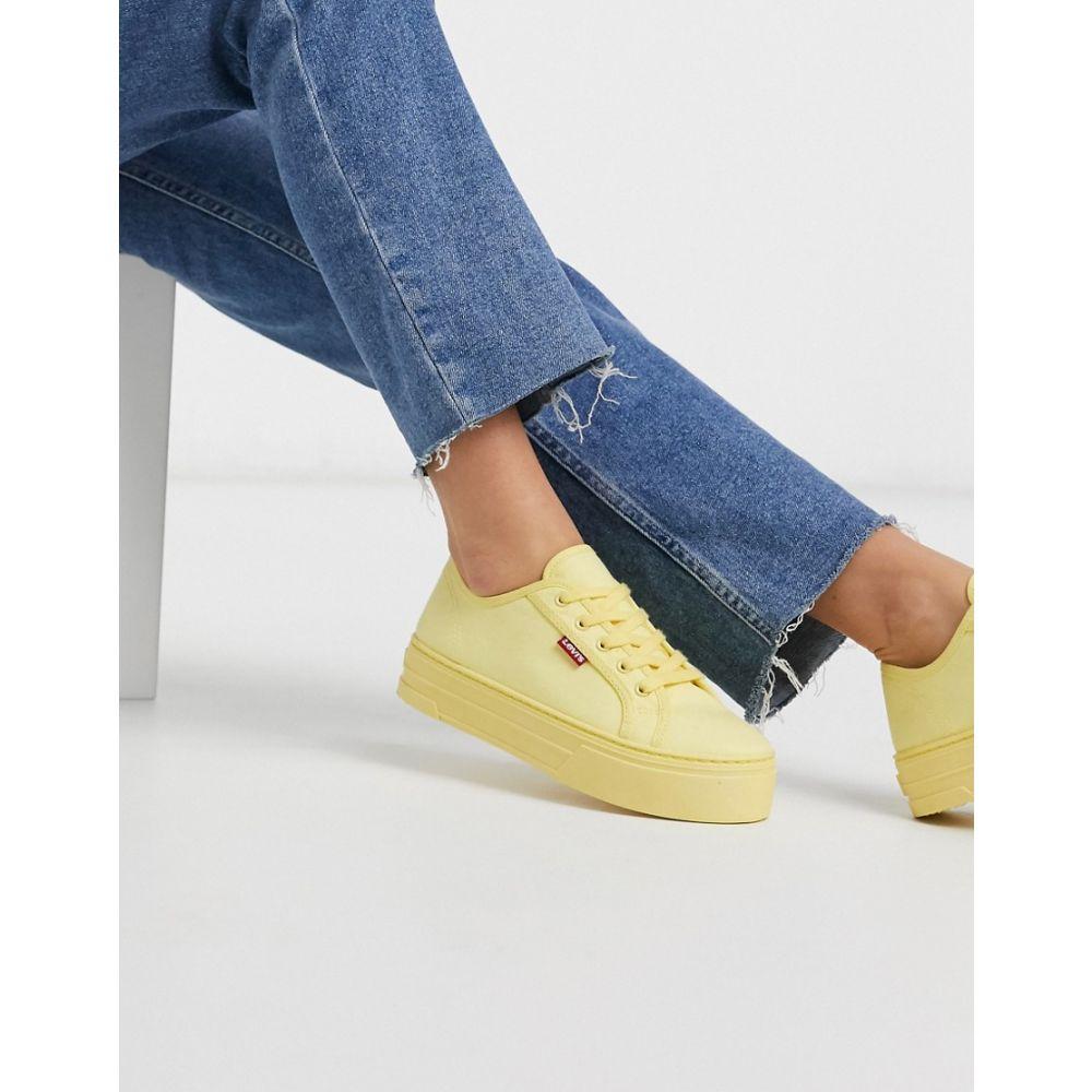 リーバイス Levi's レディース スニーカー シューズ・靴【flatform trainer】Pastel yellow