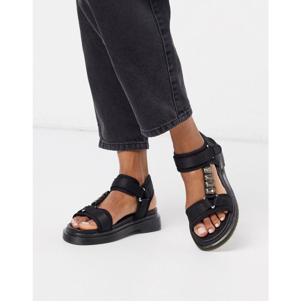 リバーアイランド River Island レディース サンダル・ミュール シューズ・靴【gum sole strappy sandal in black】Black