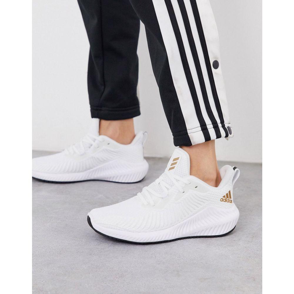 アディダス adidas performance レディース ランニング・ウォーキング シューズ・靴【adidas Running alphabounce 3 trainers in white】White
