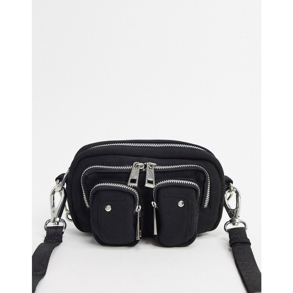 ヌーノ Nunoo レディース ショルダーバッグ バッグ【Helena scuba cross body bag with chain detail in black】Black scuba
