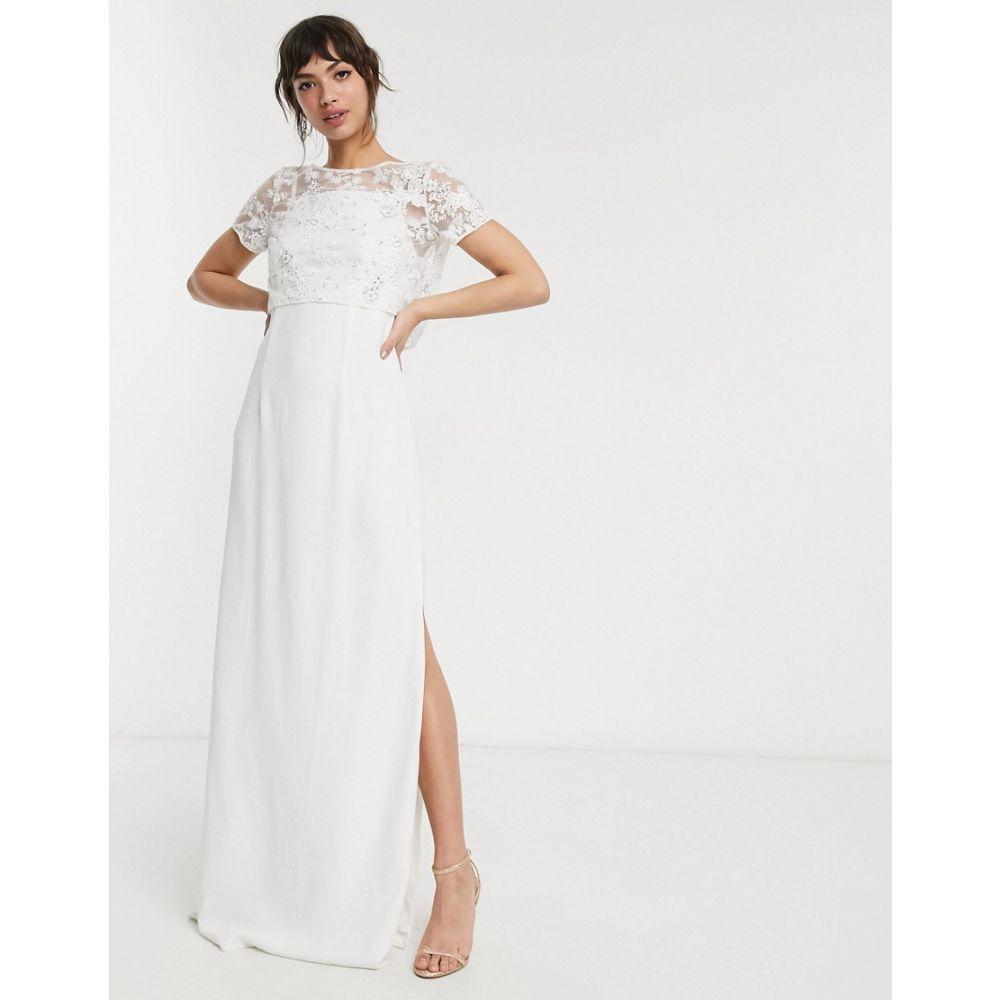 フレンチコネクション French Connection レディース パーティードレス ワンピース・ドレス【bridal isla embellished column dress】Summer white