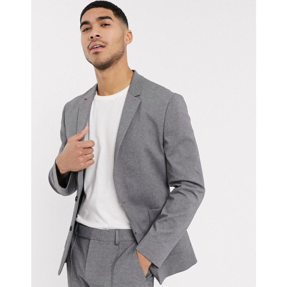 エイソス ASOS DESIGN メンズ スーツ・ジャケット アウター【skinny suit jacket in grey jersey】Grey