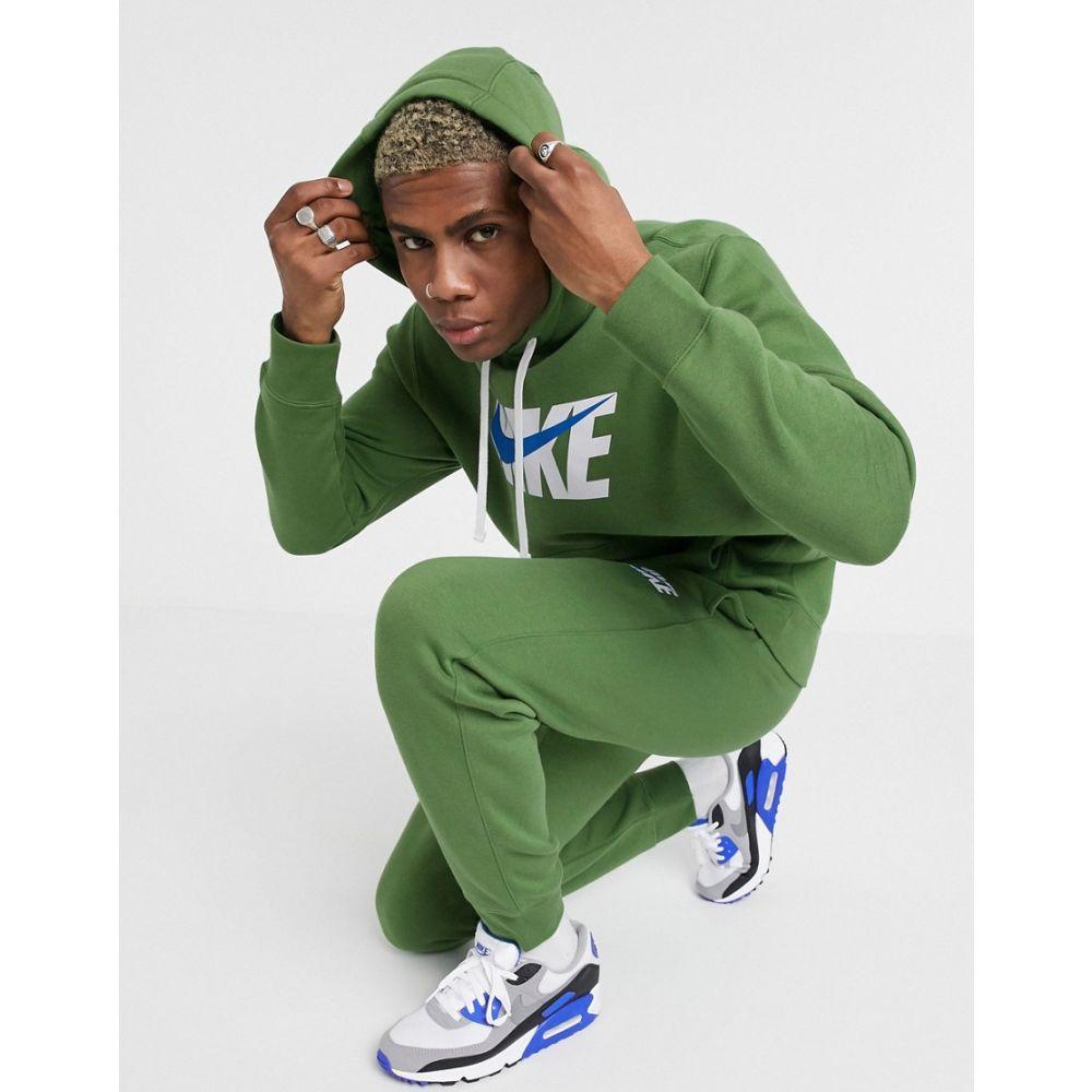 ナイキ Nike メンズ ジャージ アウター【hoodie tracksuit set in green】Green