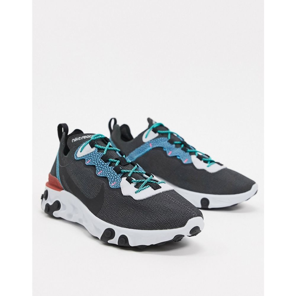 ナイキ Nike メンズ スニーカー シューズ・靴【React Element 55 trainers in grey/blue】Grey/blue