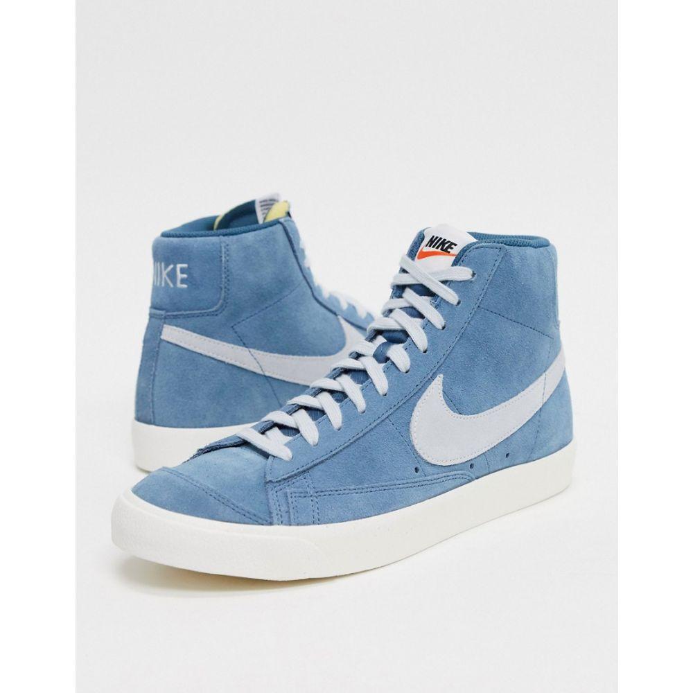 ナイキ Nike メンズ スニーカー シューズ・靴【Blazer Mid '77 suede trainers in blue】Blue
