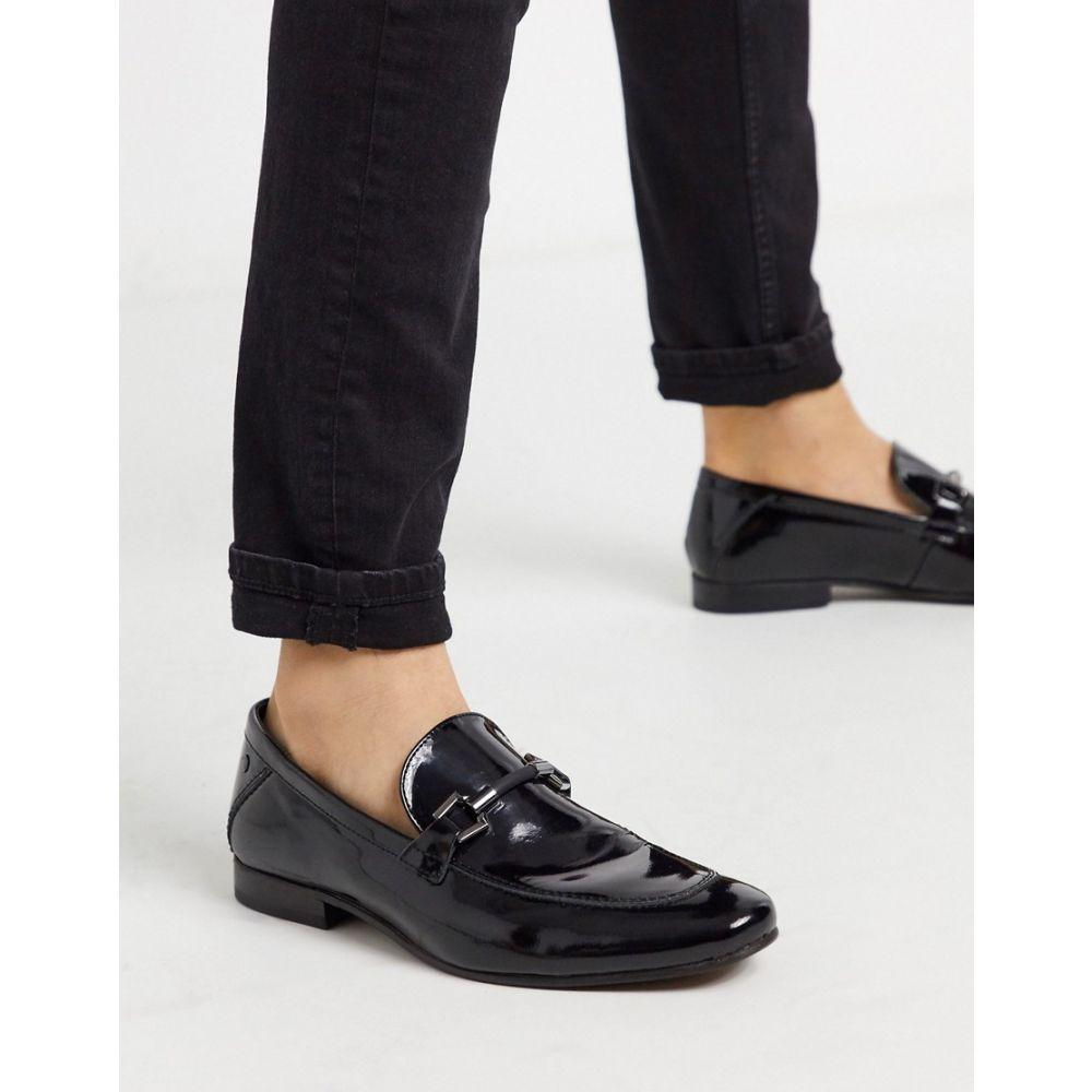 ベース ロンドン Base London メンズ ローファー シューズ・靴【soprano bar loafers black high shine】Black