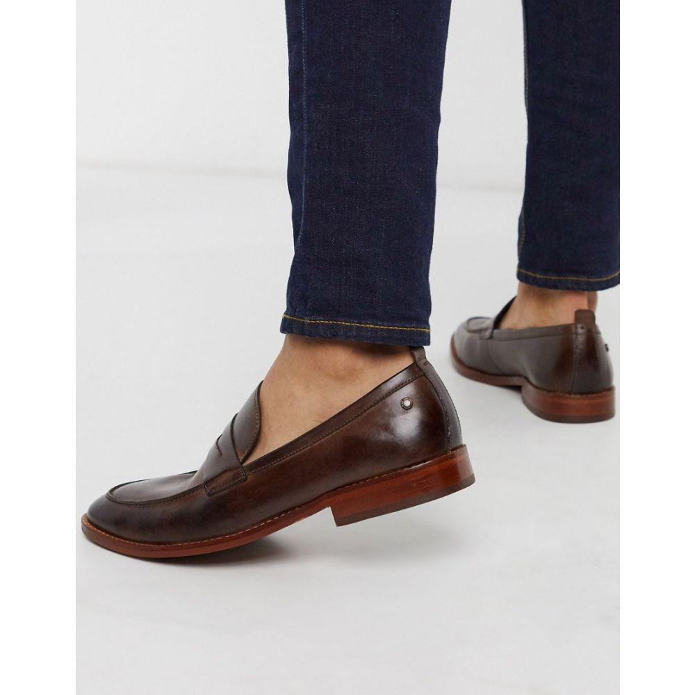 ベース ロンドン Base London メンズ ローファー シューズ・靴【Base london lense penny loafers brown leather】Brown