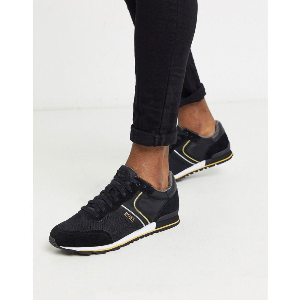 ヒューゴ ボス BOSS メンズ スニーカー シューズ・靴【Parkour nylon trainers in black】Black