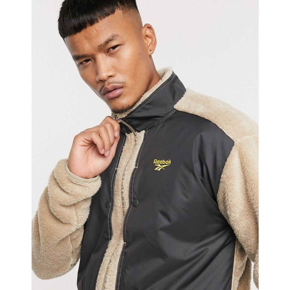 リーボック Reebok メンズ フリース トップス【trail zip through fleece jacket with vector logo】Yellow