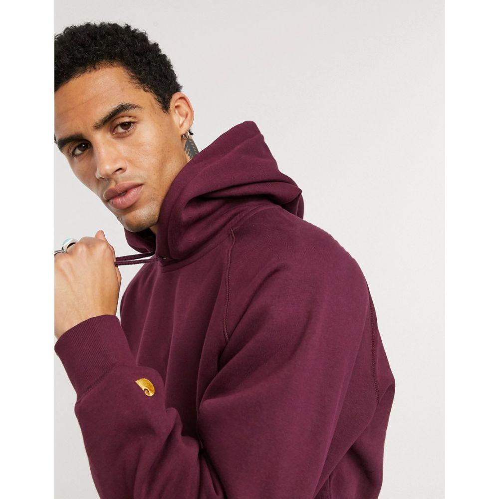 カーハート Carhartt WIP メンズ パーカー トップス【Chase hoodie in shiraz red】Shiraz/gold