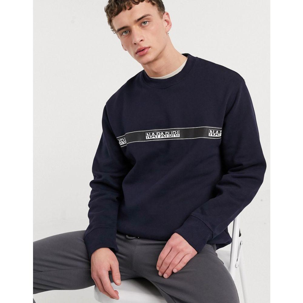 ナパピリ Napapijri メンズ スウェット・トレーナー トップス【Buena sweatshirt in navy】Blu marine