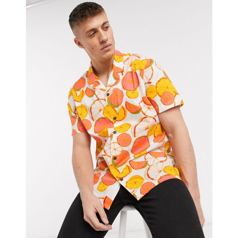 リーバイス Levi's メンズ 半袖シャツ トップス【cubano citrus short sleeve shirt】White