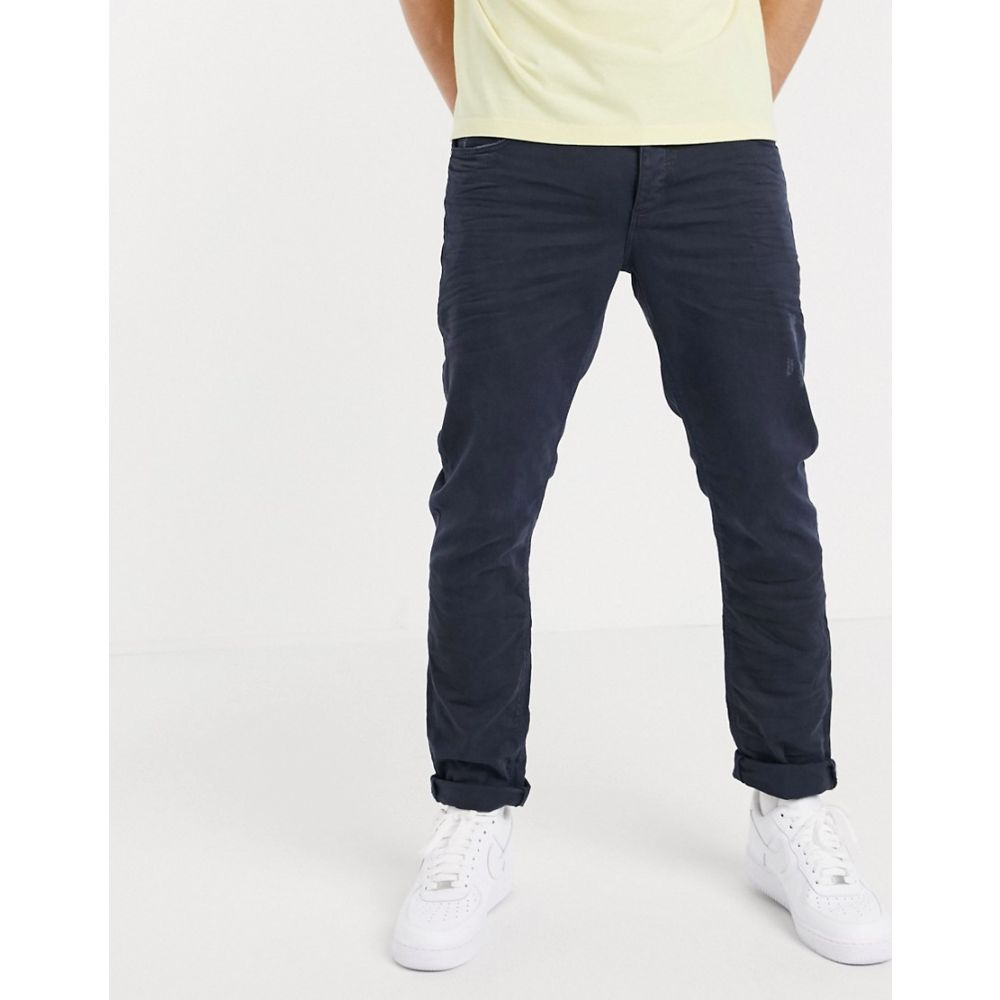 エイソス ASOS DESIGN メンズ ジーンズ・デニム ボトムス・パンツ【stretch slim jeans with abrasions in blue overdye】Blue