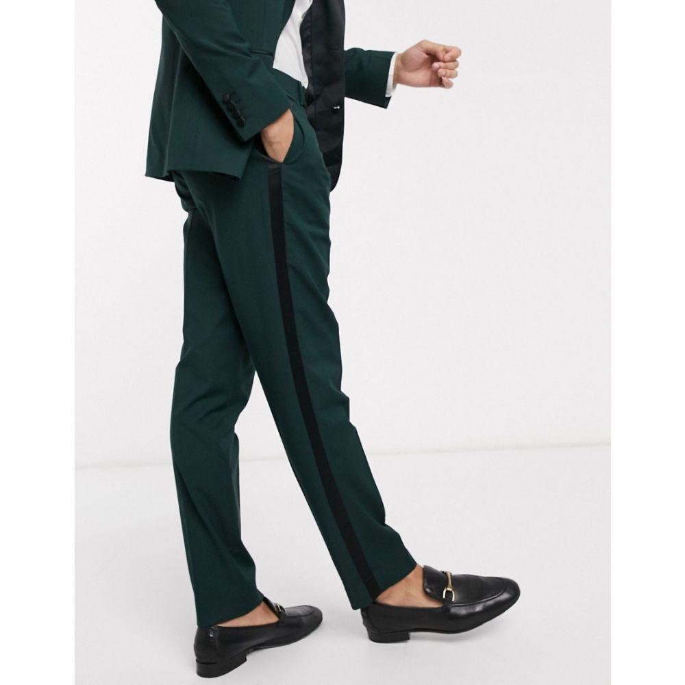 エイソス ASOS DESIGN メンズ スラックス タキシード ボトムス・パンツ【wedding slim tuxedo suit trousers in forest green】Green