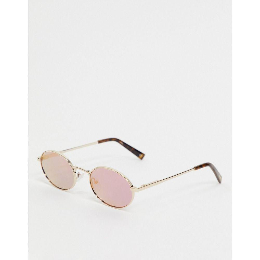 ル スペックス Le Specs メンズ メガネ・サングラス ラウンド【round sunglasses with mirror lens in gold】Gold