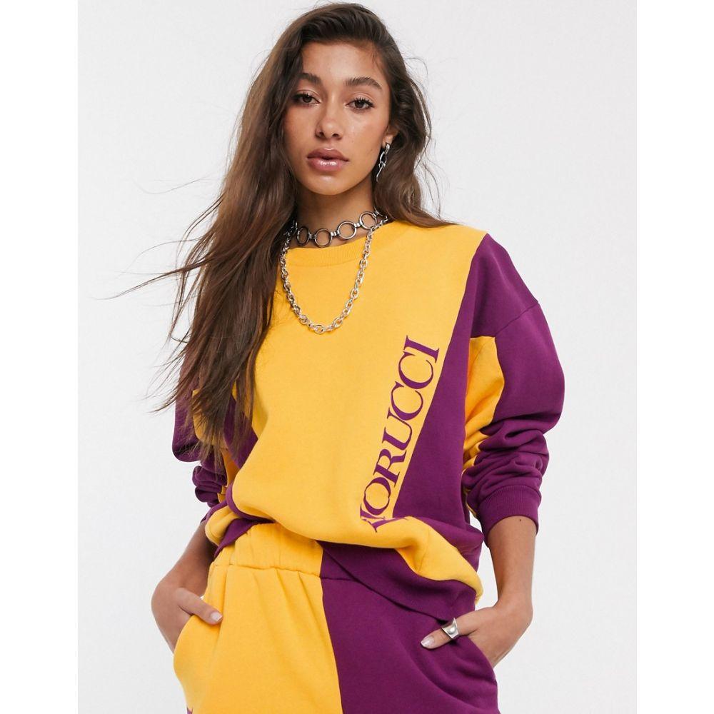 フィオルッチ Fiorucci レディース ジャージ アウター【velour colour block tracksuit top】Orange/purple