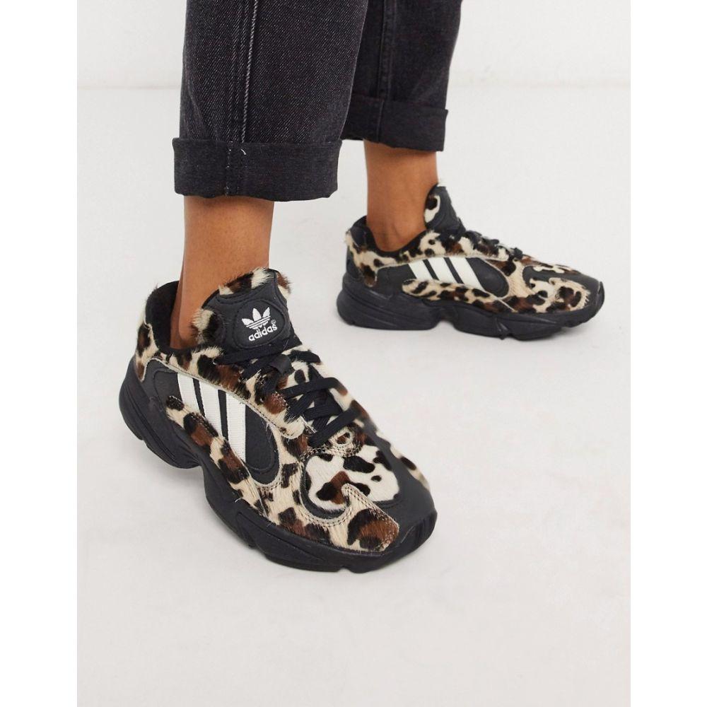アディダス adidas Originals レディース スニーカー シューズ・靴【Yung 1 trainers in leopard】Multi