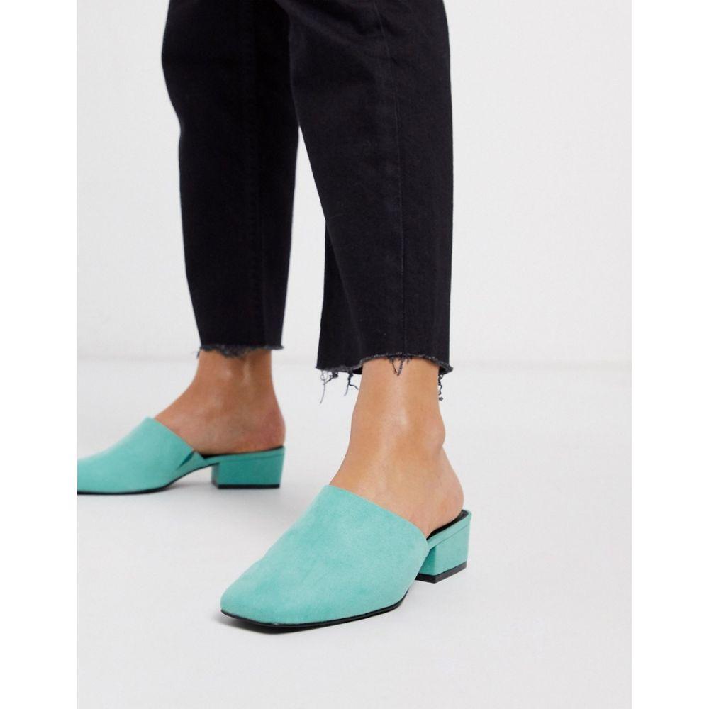 エイソス ASOS DESIGN レディース サンダル・ミュール シューズ・靴【Madison high vamp heeled mules in aqua】Aqua