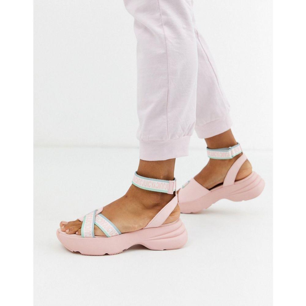 ジューシークチュール Juicy Couture レディース サンダル・ミュール チャンキーヒール シューズ・靴【logo chunky flatform sandals in pink】Baby pink