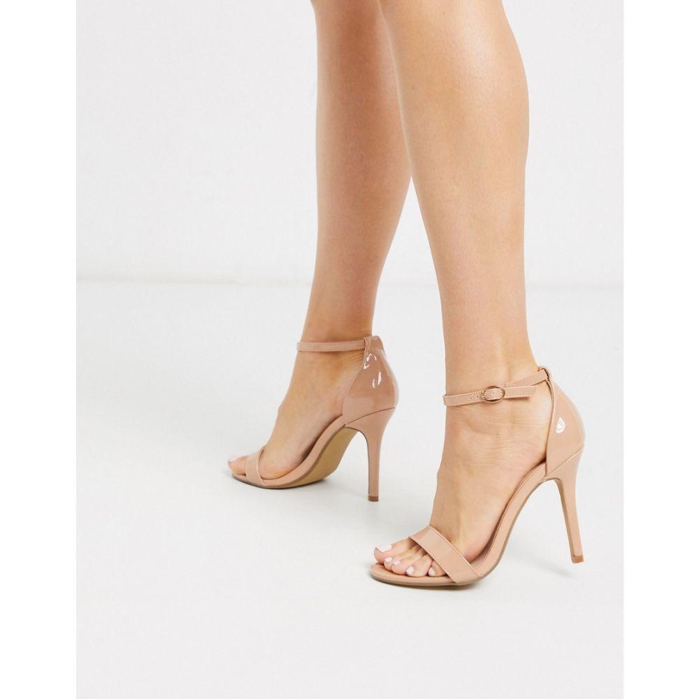 グラマラス Glamorous レディース サンダル・ミュール シューズ・靴【stilleto heeled sandal in beige patent】Beige patent