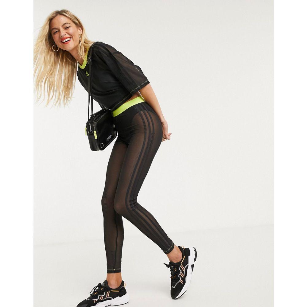 アディダス adidas Originals レディース スパッツ・レギンス インナー・下着【x Fiorucci trefoil mesh leggings in black】Black