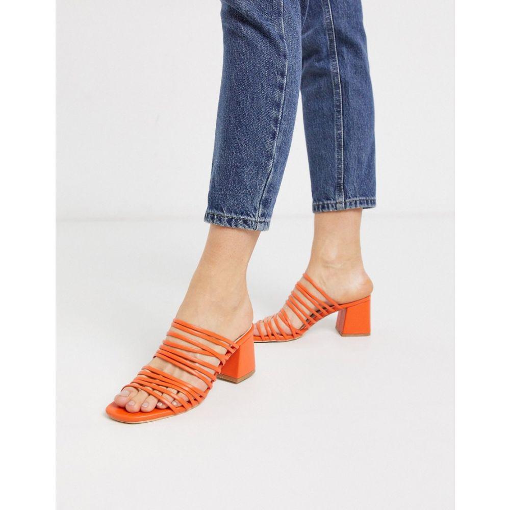 レイド Raid レディース サンダル・ミュール シューズ・靴【RAID Sidney super strappy mid heeled sandals in orange】Bright orange